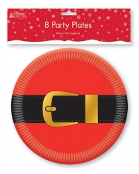 Image of 6 x Christmas Paper Party Plates 8pk