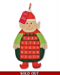 Image of 3 x Fabric Elf Advent Calendars 72cm