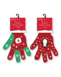 Image of 12 x Pairs Of Children's Christmas Glo..