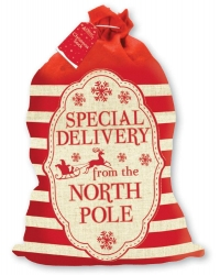 Image of 6 x Christmas Nordic Calico Sacks