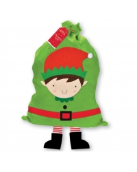 Image of 6 x Elf Christmas Sacks With Legs