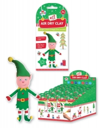 Image of 12 x Christmas Elf Air Dry Clay Sets