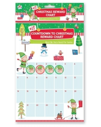 Image of 12 x Elf Countdown To Christmas Reward Charts