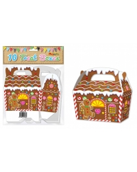 Image of 10 x Gingerbread House Treat Boxes 10pk