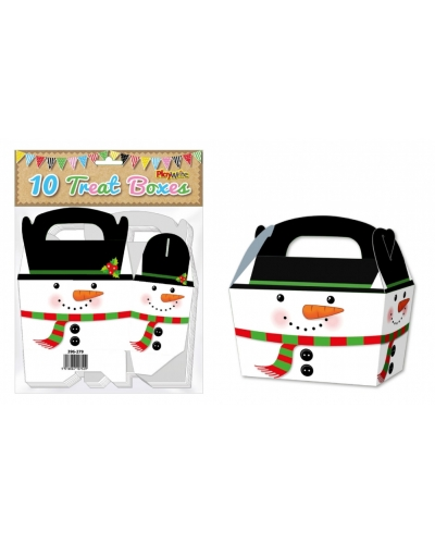 10 x Snowman Treat Boxes 10pk