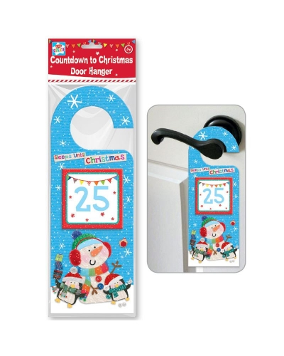 12 x Countdown To Christmas Door Hangers