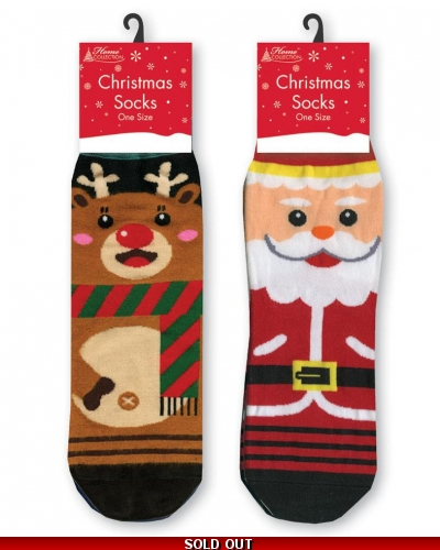 12 x Kids Christmas Socks - One Size