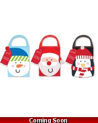 12 x Felt Christmas Treat Bags