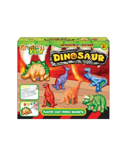 6 x Dinosaur Mould & Paint Fridge Magnets
