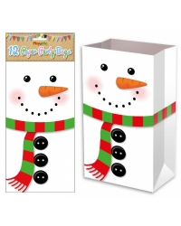 Image of 144 x Snowman Paper Party Bags