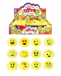 Image of 12 x Light Up Emoji Puffer Balls