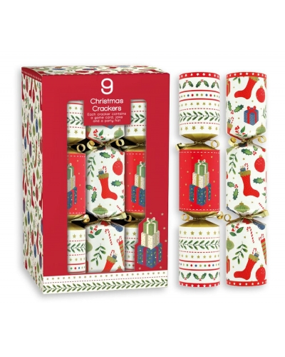 "9x8"" Christmas Crackers Traditional"