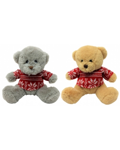 Wrapped Grotto Toys - Plush 15cm Bears In Sweaters x 6