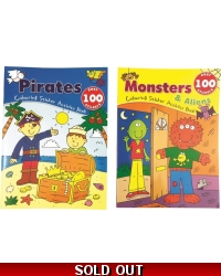 Image of Wrapped Grotto Toys - Monster/Pirate Dress Me Sticker Book..