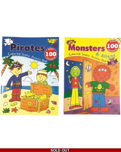 Wrapped Grotto Toys - Monster/Pirate Dress Me Sticker Books  x 12