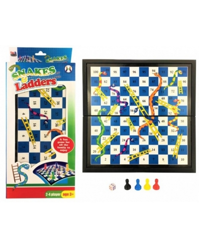 Wrapped Grotto Toys - Snakes & Ladders Games x 6