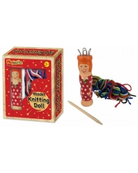 Image of Wrapped Grotto Toys - Wooden Knitting Doll  x 12