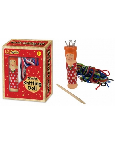 Wrapped Grotto Toys - Wooden Knitting Doll  x 12