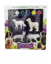 Image of Wrapped Grotto Toys - Dog Painting Set  x 6