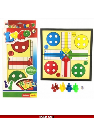 Wrapped Grotto Toys - Classic Ludo Games x 6