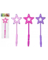 Image of 12 x Flashing Light Up Star Wands 34cm
