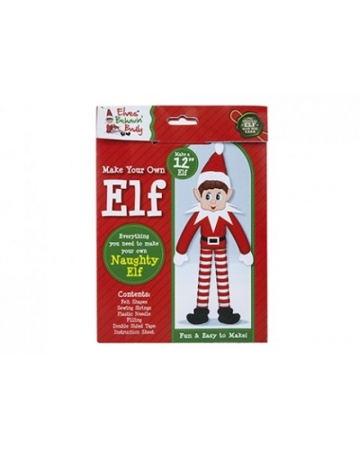 12 x Make Your Own Christmas Elf Craft Sets