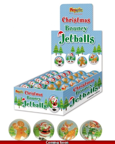 48 x Christmas Bouncy Balls 35mm