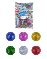Image of 100 x Glitter Bouncy Balls 35mm