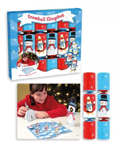 "6x9"" Christmas Crackers Snowman Slingshot Game"