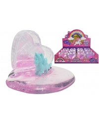 Image of 12 Unicorn Glitter Putty In Heart Case
