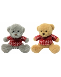 Image of 6 x Plush Christmas Bear in Sweater 15cm