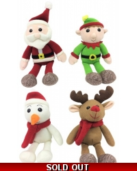 Image of 8 x Knitted Xmas Plush Toy Assortment 15cm