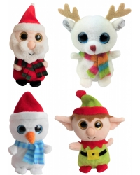 Image of 12 x Glitter Eye Christmas Plush 10cm