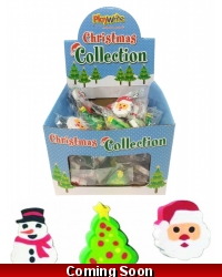 Image of 96 x Christmas Erasers 4cm