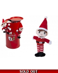 Image of 40 x Magnetic Plush Elves In Tin 18cm