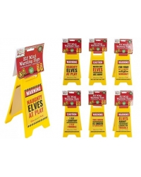 Image of 24 x Christmas Elf A Frame Warning Signs