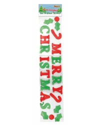 Image of 24 x Merry Christmas Window Gel Stickers