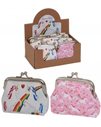 Image of 12 x Unicorn Clasp Coin Purses