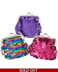 Image of 12 x Sequin Clasp Coin Purses