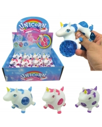 Image of 12 x Squeezy Unicorn Bead Balls 8cm