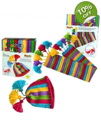 Image of 6 x Make Your Own Hat & Scarf Crochet Kits