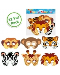 Image of 144 x Cardboard Jungle Animal Masks