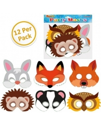 Image of 144 x Cardboard Woodland Animal Masks