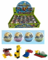 Image of 24 x Constructor Capsule Egg Building Brick Kits