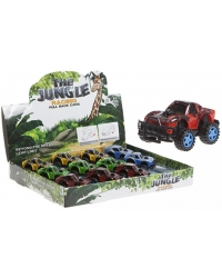 Image of 12 x Pull Back Jungle Race Cars