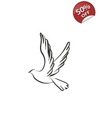 Image of 100 x Peace Dove Tattoos