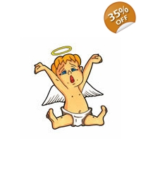 100 x Baby Angel Tattoos