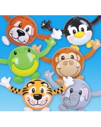 12 x Inflatable Animal Buddies