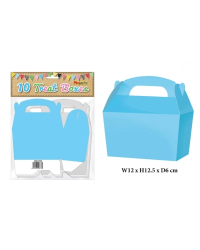 10 x Baby Blue Party Treat Boxes 10 pk