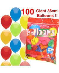 Pack Of 100 Party Balloons